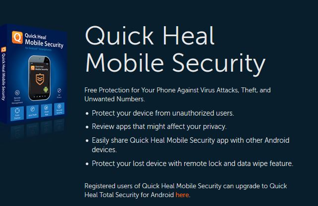 Quick Heal Mobile Security для Android