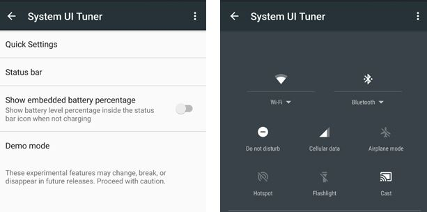Настройка System UI Tuner