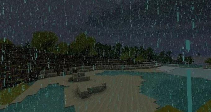 Как убрать дождь в Майнкрафте