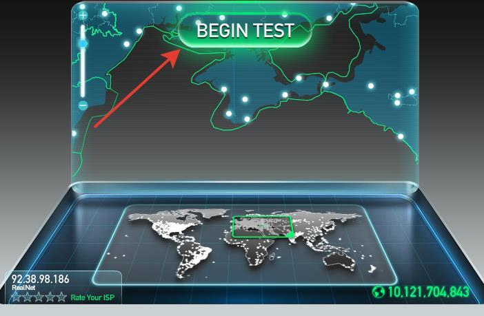 Тест скорости интернета SpeedTest