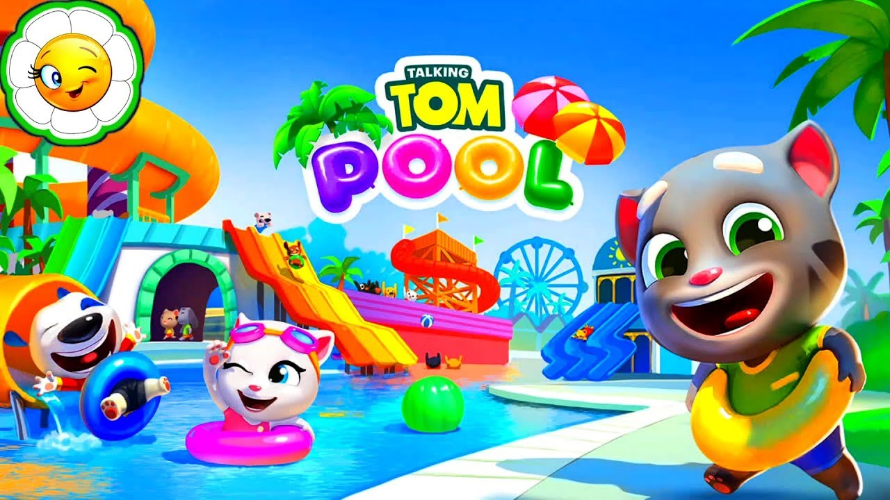 Как пройти Tom Pool - Бассейн Говорящего Тома, прохождение уровней и обзор