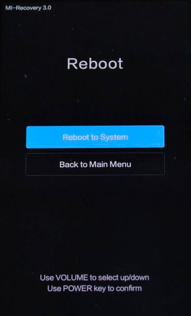 Reboot to System