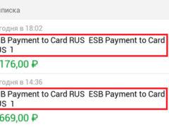 ESB Payment to Card RUS ESB Payment to Card RUS 7,1,5,3,6,9 что это значит, какой перевод