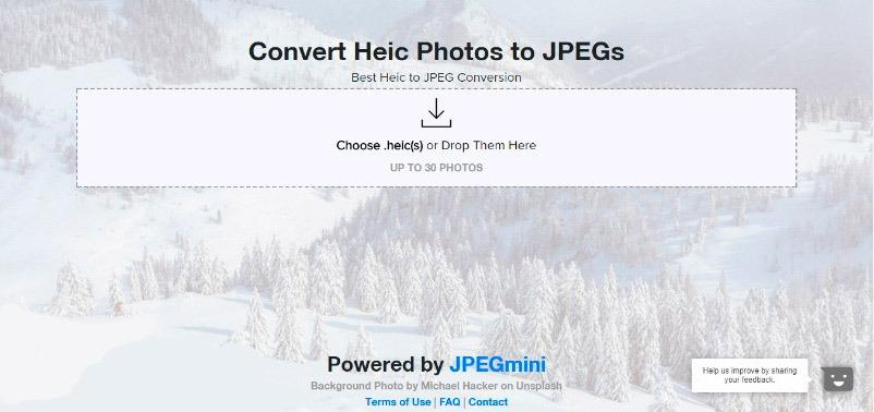 Веб сайт heictojpg.com