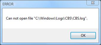 Файл CBS.log поврежден - что делать?