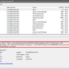 InstanceModificationEvent WITHIN 60 WHERE TargetInstance ISA