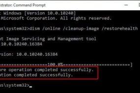 Dism /Online /Cleanup-Image /RestoreHealth — использование команды