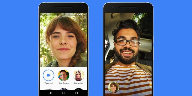 Интерфейс звонков в Google Duo