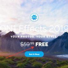 Бесплатно получаем программу для обработки фото ON1 Effects 2019