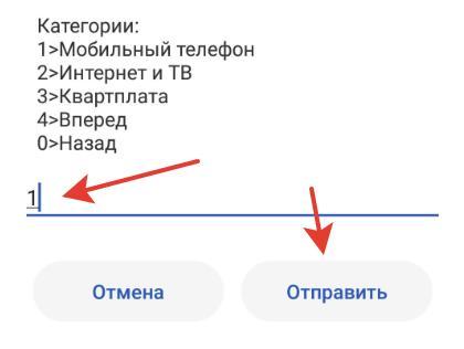 Вводим 1 – мобильный телефон