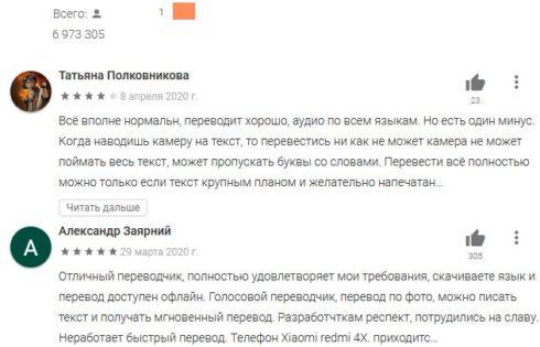 6. Оценка и отзывы пользователей