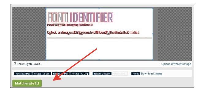 Распознавание на Fontspring.com