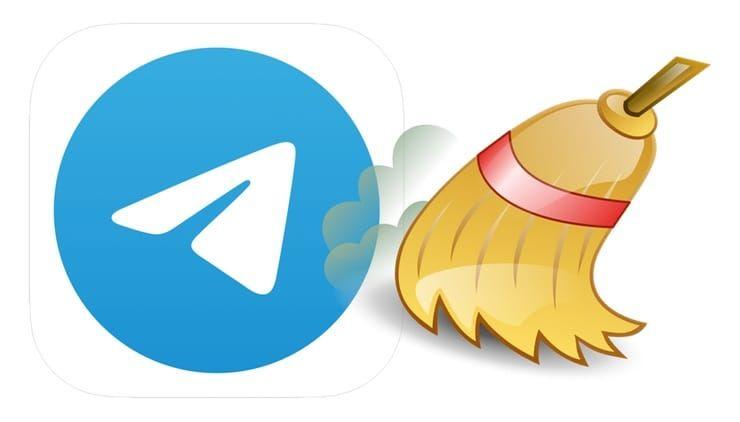 очистка кэша в телефоне и мессенджере Телеграмм