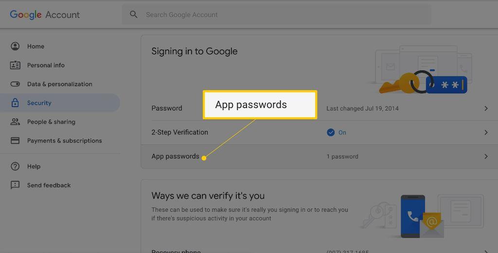 создание пароля приложений в гугл аккаунте