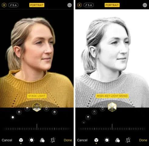 """Использование на портрете опции """"Сценический свет"""""""