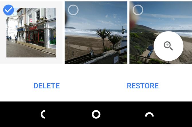 восстановление удаленных файлов в Google Фото