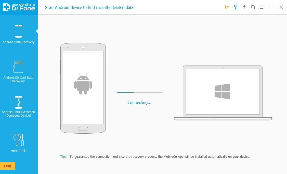 синхронизация с телефоном WonderShare Dr Fone for Android