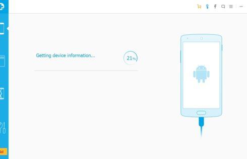 настройка сканирования в WonderShare Dr Fone for Android